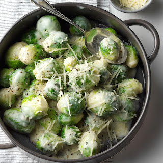 Brussels Sprouts in Rosemary Cream Sauce.