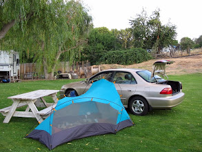 Photo: Car camping in downtown Dayville
