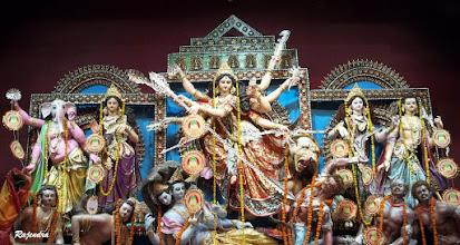 Photo: Maa Durga with family