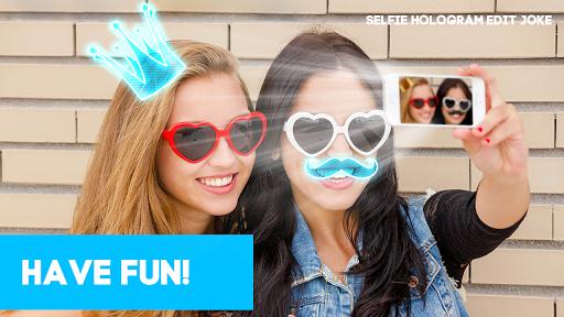 Selfie hologram edit joke