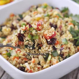 Cranberry and Cilantro Quinoa Salad.