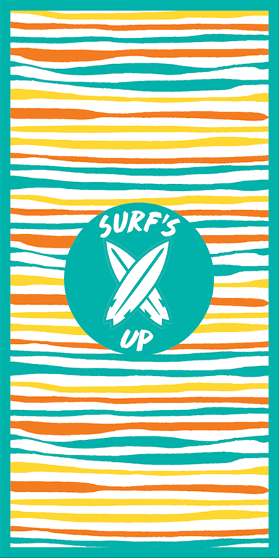 BeachTech Towel - Surfs Up