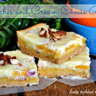 Peaches and Cream Cheese Bars.
