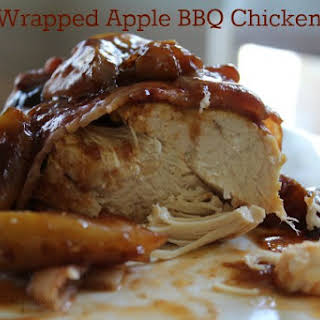 Bacon Wrapped Apple BBQ Chicken - Crock Pot.
