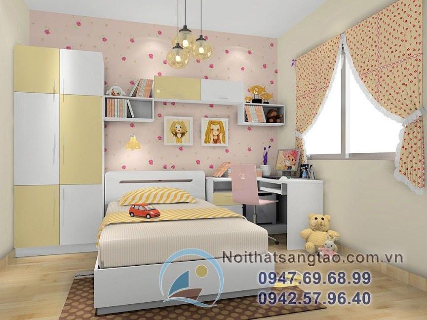 thiết kế phòng ngủ bé gái 1