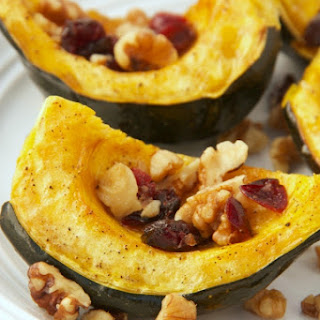 Roasted Acorn Squash With Walnuts And Cranberries
