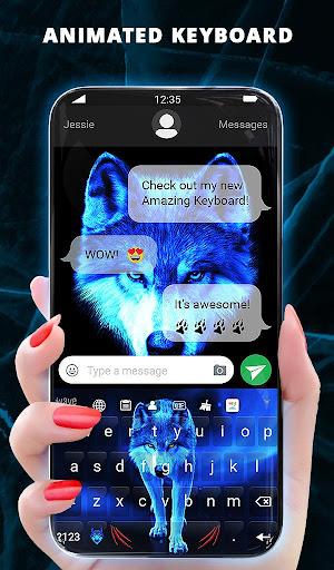 Ice Wallpaper and Keyboard screenshot 2