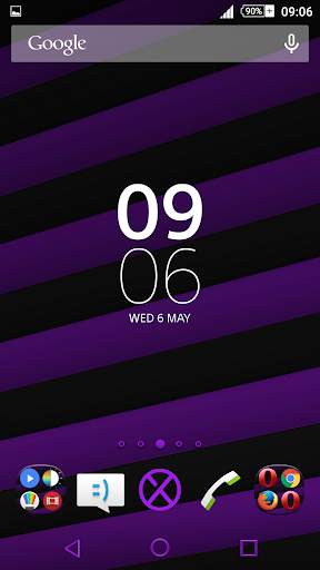 Streaks Purple XZ Theme