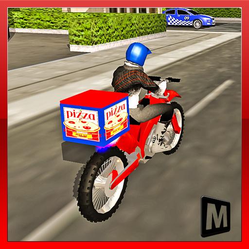 jogo de entregar pizza na bicicleta