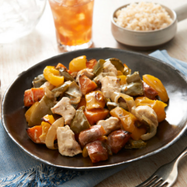 Roasted Chicken with Sweet Potatoes