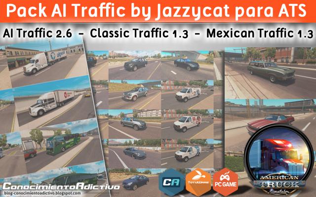 Pack AI Traffic by Jazzycat para ATS 1 6 x : Añade más