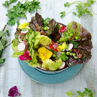 Springtime Salad with Crispy Prosciutto and Creamy Lemon and Herb Dressing