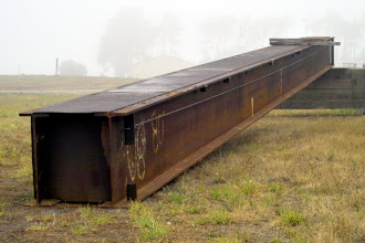 Photo: Discarded bridge girder, near Ft. Bragg CA