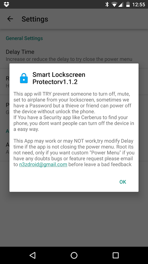 Smart Lockscreen protector- screenshot