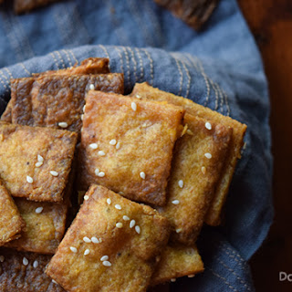 Sesame Plantain Crackers