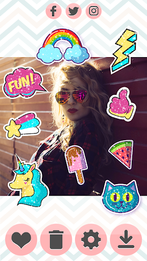 Glitter Stickers 1.1 screenshots 7