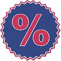 Calcolo percentuale icon