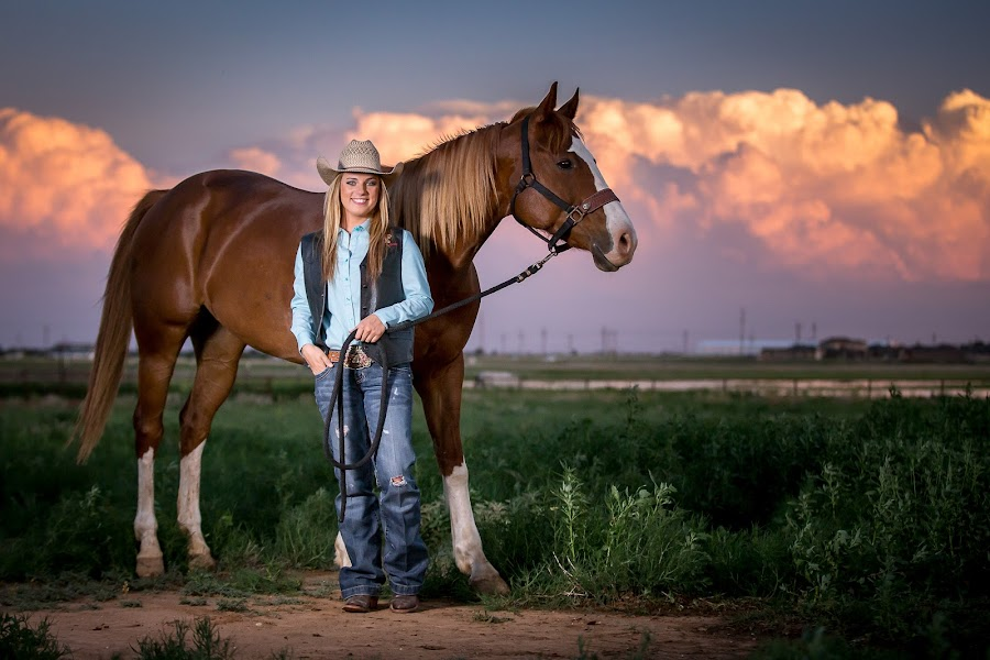 Young Lady with her Horse by Joe Baker - People Portraits of Women ( canon 6d, horse, texas, family photography, high school senior photography, lubbock, joe baker photography, smile, portrait )
