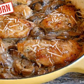 Einkorn Mushroom Asiago Chicken.