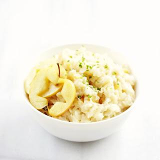 Potato Sauerkraut Puree with Sautéed Apples {vegan, grain free, gluten free}