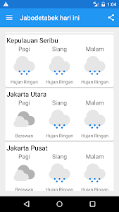 Indonesian Weather (BMKG) screenshot 1