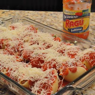 Ragú Tra-Dish Sausage and Pepper Stuffed Shells