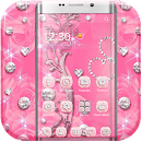 Pink Rose Diamond Theme v 1.1.1 app icon