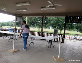 Photo: Mike Alexander setting up the concessions area.   HALS Public Run Day  2016-0716  RPWhite