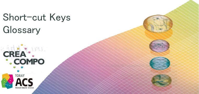 Short-cut Keys và Glossary Cơ Bản Phần Mềm CREACOMPO Toray-ACS 1
