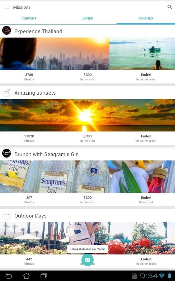 Foap - sell your photos- screenshot