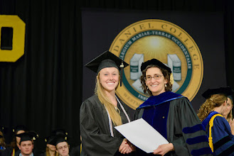 Photo: Julie Little, Exercise Science and Physical Education major from Woodsboro, Md., The Richard A. Clower Award for Excellence in Exercise Science and Physical Education