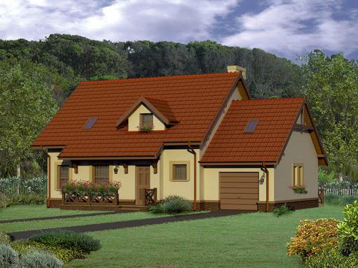 projekt Dom za rogiem - energooszczędny - EC110