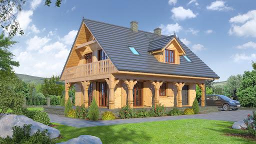 projekt Dom mazurski 3dw