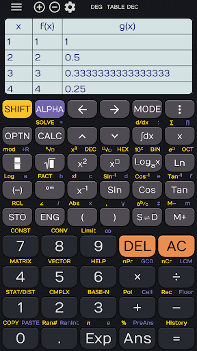 Calculator 350 es L84+ calculator sin cos tan - screenshot