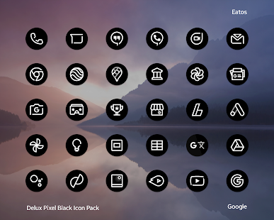 Delux Black - Round Icon Pack Screenshot
