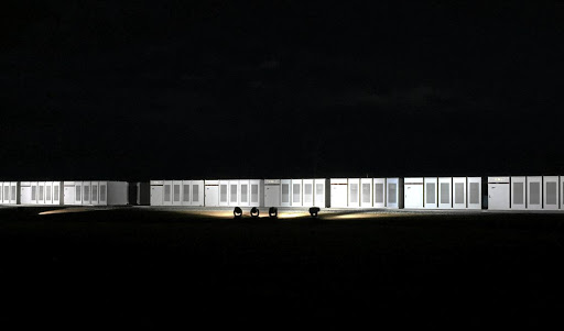 Tesla's Powerpacks at Neoen's wind farm in Hornsdale, South Australia, photographed in September 2017. Picture: REUTERS