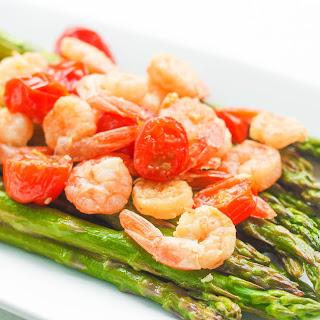 Roasted Lemon Garlic Shrimp and Asparagus
