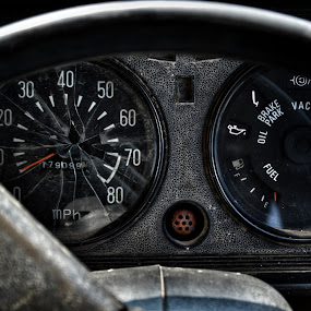 old buddy..... by Ashif Hasan - Transportation Automobiles ( broken, indicator, wastage, color, old, meter, black, rusty, old car, rusted, special, old buddy by ashif hasan, rustic, stearing, scrap, round, ashif hasan, speedometer, lines, old buddy, ignition )