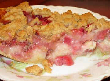 Strawberry Rhubarb Cream Pie Recipe