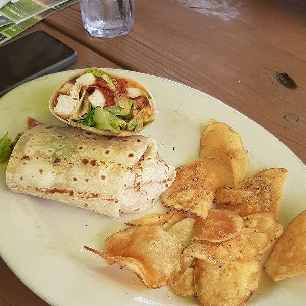 The Athens with a gluten free wrap