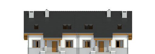 Gajówka bez garażu bliźniak B-BL1 - Elewacja przednia