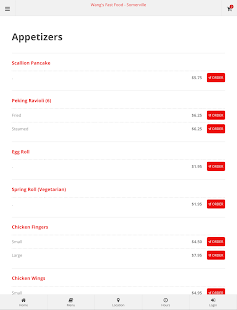 Wang's Fast Food Somerville Online Ordering- screenshot thumbnail