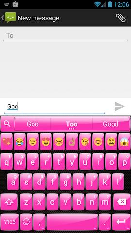android Gloss Pink Emoji Keyboard Screenshot 1