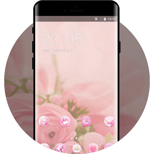 App Insights Pink Girly Theme For Nokia 8 Flower Wallpaper