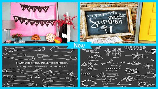 Easy Chalkboard Ribbon Banner - náhled