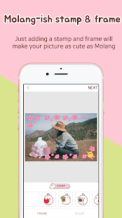 Molang&I - 3D Sticker Photo Screenshot