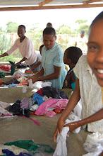 Photo: children washing clothes