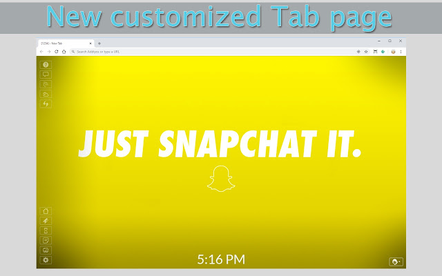 Snapchat New Tab & Wallpapers Collection