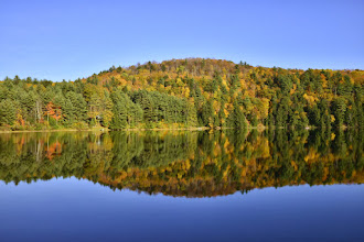 Photo: Fall reflections at Half Moon State Park by Bill Steele