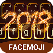 Happy New Year Fireworks 2018 Keyboard Theme